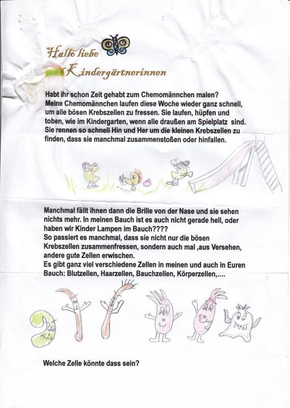 Kinderbriefe Schreiben : Teresa krebs bei kindern